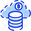 Bitcoin Network Bitcoin Cloud Mining Cloud Bitcoin Icon