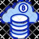 Bitcoin Network Bitcoin Cloud Mining Cloud Bitcoin Icon