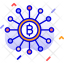 Bitcoin Network Decentralized Cryptocurrency Exchange Icon