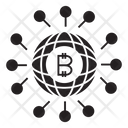 Bitcoin Network Globe Icon