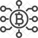 Bitcoin Network Bitcoin Bitcoin Connection Icon