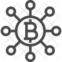 Bitcoin Network Bitcoin Connection Bitcoin Icon