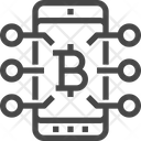 Bitcoin Network Digital Currency Bitcoin Icon