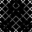 Bitcoin Network Network Share Icon