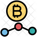 Bitcoin Network Connection Network Icon