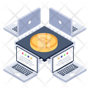 Bitcoin Network Distributed Bitcoin Digital Currency Icon