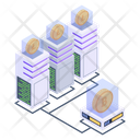 Crypto Connection Bitcoin Network Connected Blockchain Icon