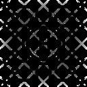 Digital Bitcoin Network Bank Icon