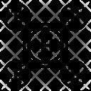 Bitcoin Network Network Bank Icon