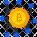 Bitcoin Network Blockchain Cryptocurrency Icon