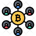 Network Idea Bitcoin Icon