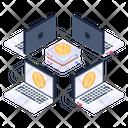 Bitcoin Connection Bitcoin Network Bitcoin Network Connection Icon