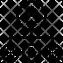 Bitcoins Bitcoin Network Structure Bitcoin Network Icon