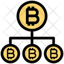 Bitcoin Network Structure Bitcoin Network Transfer Icon