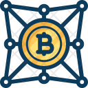 Network Bitcoin Block Icon