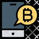 Bitcoin Notification Smartphone Mobile Icon