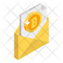 Bitcoin On Email Btc Email Cryptocurrency Email Icon