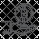 Bitcoin On Hand Icon