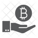 Bitcoin Hand Finance Icon
