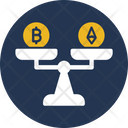 Bitcoin Over Ethereum Bitcoin Value Currency Value Icon