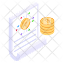 Crypto Paper Bitcoin Paper Cryptocurrency Document Icon