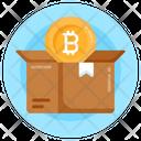 Bitcoin Package Bitcoin Parcel Bitcoin Box Icon