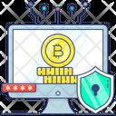 Secure Bitcoin Bitcoin Password Blockchain Icon