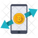 Bitcoin Transfer Currency Icon