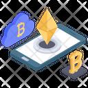 Bitcoin Payment Cloud Computing Cloud Bitcoin Icon