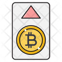 Pay Bitcoin Up Icon