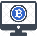 Online Payment Bitcoin Icon