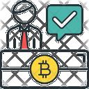 Bitcoin Person Bitcoin Person Icon