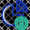 Bitcoin Pie Chart Icon