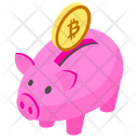 Bitcoin Piggy Icon