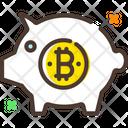 Piggybank Bitcoin Piggy Bank Piggy Bank Icon
