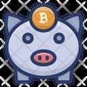 Bitcoin Piggy Box Icon