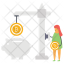 Bitcoin Piggy Box Icon