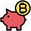 Bitcoin Piggybank Piggybank Money Icon