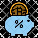 Bitcoin Piggybank Bitcoin Savings Tax Icon