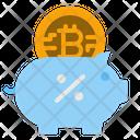 Bitcoin Piggybank Icon