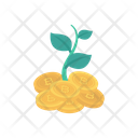 Growth Bitcoin Crypto Icon