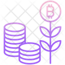Cryptocurrency Coins Bitcoin Plant And Coins Bitcoin Plant Icon