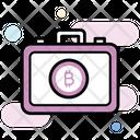 Briefcase Financial Case Bitcoin Portfolio Icon