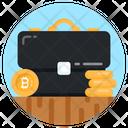 Cash Bag Bitcoin Portfolio Money Briefcase Icon
