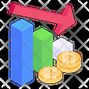 Budget Deficit Bitcoin Recession Blockchain Recession Icon