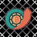 Bitcoin Price High Coin Raise High Icon