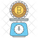 Bitcoin Balance Cryptocurrency Icon