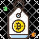 Bitcoin Price Tag Icon