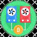 Blockchain Processors Bitcoin Processors Crypto Processors Icon