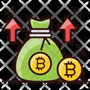 Bitcoin Profit Digital Wealth Coin Sack Icon